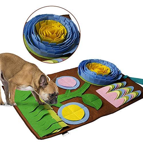 Ryoizen Schnüffelteppich Hund Riechen Trainieren Schnüffeldecke Riechen Trainingsmatte Relax Toys für...