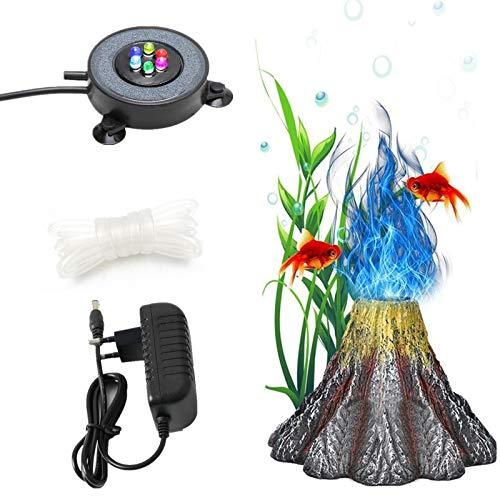 Aquarium Bubble Light, Aquarium Air Stone Blasen Licht Aquarium Air Stone Disc mit 6 Farbwechselnden LEDs...