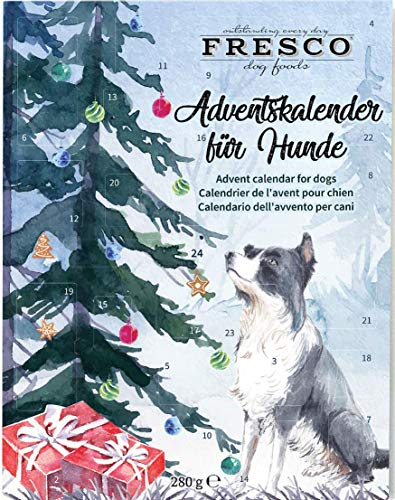 Fresco Adventskalender für Hunde 2020 (Weihnachtsbaum) - Enthält Hundeleckerli & Hundesnacks UVM. -...