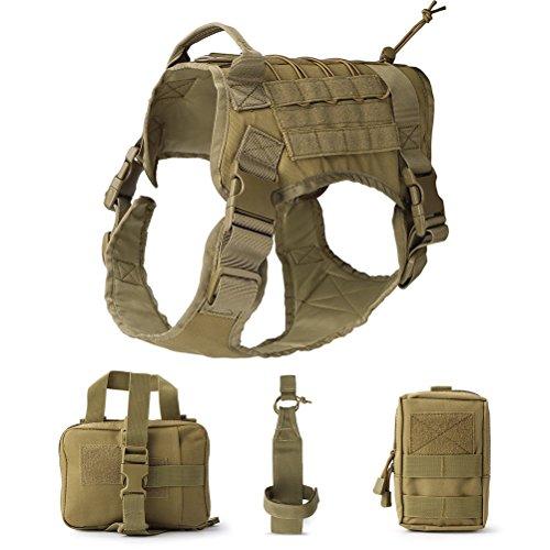 UEETEK Hund Tactical Vest, Taktische Service Hund Weste, Wasserdicht Bequem Military Patrol Hundegeschirr...