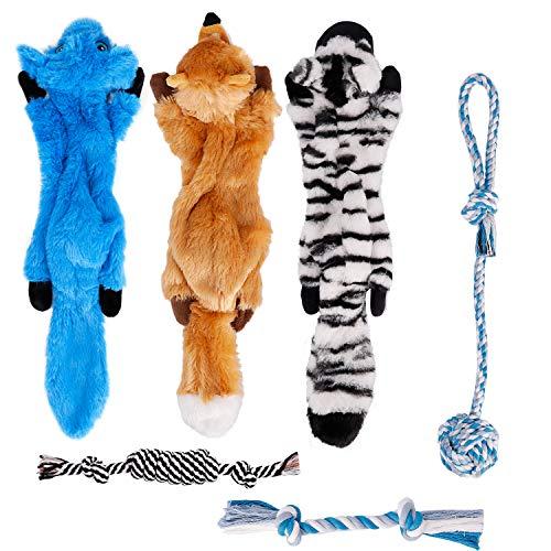 Toozey Spielzeug Hund Welpenspielzeug - 6 STK Langlebiges Hundespielzeug für Welpen & kleine Hunde -...
