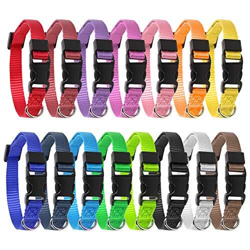 Veraing Welpenhalsbänder, 15 Stück Welpen ID Kragen Einstellbare Schnellverschluss Haustier Halsband...
