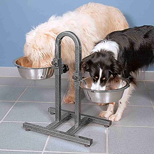 Trixie 2497 Hundebar, separat höhenverstellbar, 2 × 2,8 l/ø24 cm