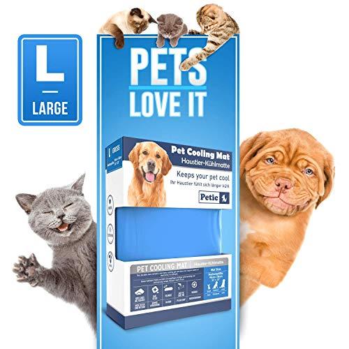 Petic Kühlmatte für Hunde Katzen Haustiere Kältematte für Hunde Selbstkühlende Hundedecke...
