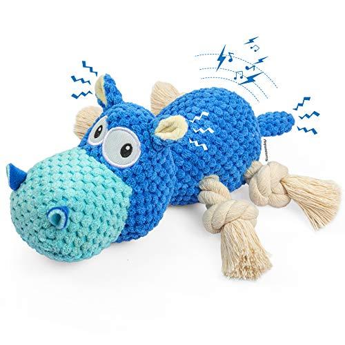 Sunzonsky Spielzeug für Hunde, Interaktives Hundespielzeug mit Baumwollmaterial und Knitterpapier,...