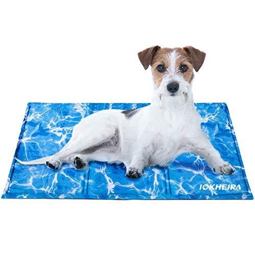 Iokheira Kühlmatte für Hunde, strapazierfähige Kühlmatte für Haustiere, Ungiftiges Gel,...