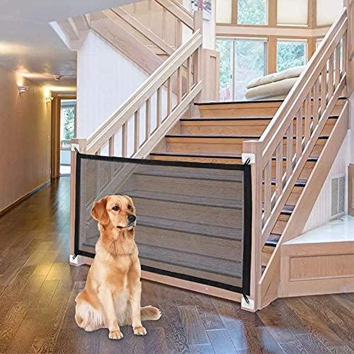 Hundebarrieren Tragbar, 110cm x 72cm Treppenschutzgitter Ausziehbar Kein Bohren Erforderlich Leicht zu...