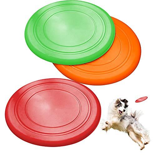 ZoneYan Scheibe Hund, 3 Stück Hundefrisbee Weich, Hunde Frisbee Kautschuk, Weiche Hunde Frisbee, Gummi...
