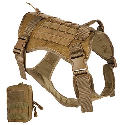 Bociks Taktisches Hundegeschirr, Militär-Hundegeschirr, Arbeitsweste, Molle-Trainingsweste, verstellbar,...