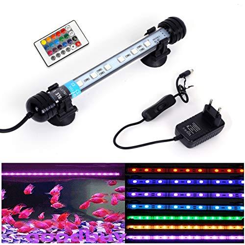 SolarNovo 18-112cm LED Aquarium-Licht Unterwasser BeleuchtungAufsatzleuchte Abdeckung Wasserdicht Lampe...