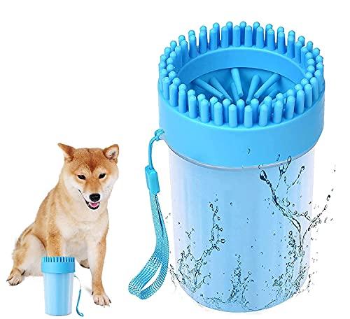Hunde Pfotenreiniger Silikon Hundepfoten Reiniger Tragbarer für Große und Normale Pfoten Leicht zu...