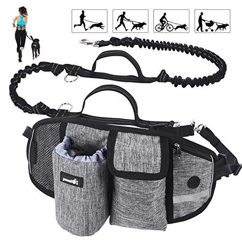 Pecute Joggingleine für Hunde, Jogging Hundeleine für große und mittelgroße Hunde, Elastische und...