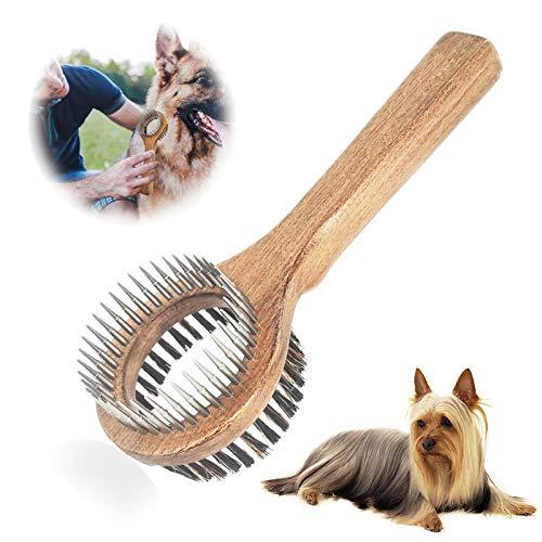 PetGens Hundebürste, Katzenbürste, Doppelbürste für Hunde und Katzen, Fellpflege 2in1-Bürste zur...