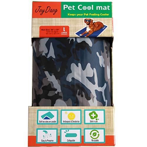 JoyDaog Hunde-Kühlmatte für große Hunde, ungiftiges Gel-Tarnmuster, kühles Bett für Katzen bei...