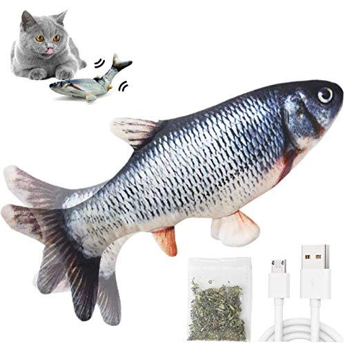 Katzenspielzeug Elektrisch flippity Fischs,interaktives zappelnder fisch Spielzeug für katzen USB...
