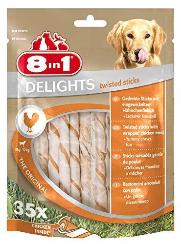 8in1 Delights Chicken, gesunder Kauksnack für Hunde, hochwertiges Hähnchenfleisch eingewickelt in...