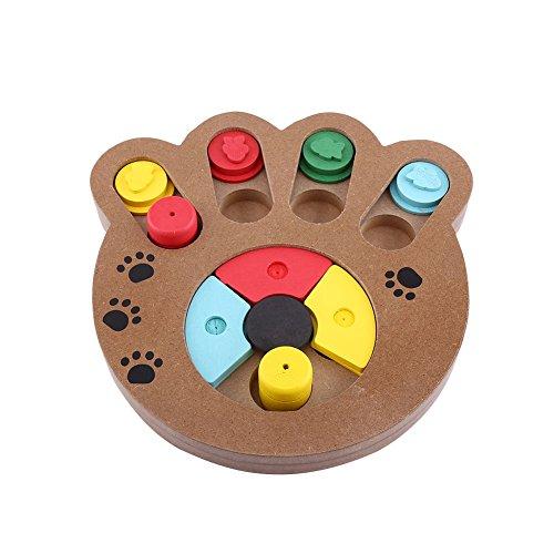 Yosoo Pet Intelligenz Spielzeug Interaktives Lebensmittel behandelt Holz Spielzeug für Hunde Katzen...