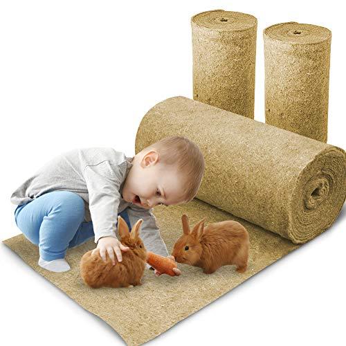 Nagerteppich aus 100% Hanf auf Rolle mit 5m Länge, 40cm Breite, 10mm dick, Hanfteppich für alle Arten...