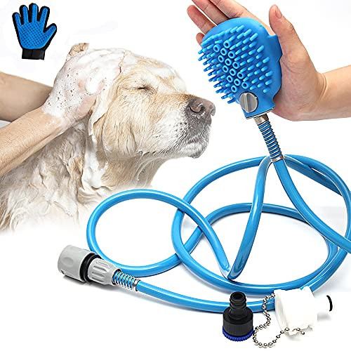 73HA73 Pet Bathing Massager Duschwerkzeug Handheld Tool Komfortable Reinigung Waschsprayer Hund Katze...