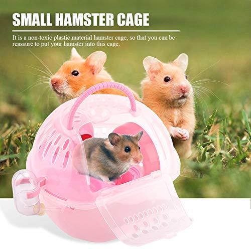 Kleines Hamsterspielzeug, Hamsterhaus, multifunktionales Hamsterzubehör, für Picknick zum Reisen(Pink)