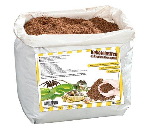 Humusziegel - natürliches Terrariensubstrat - lose Kokoserde trocken - 20 L Sack