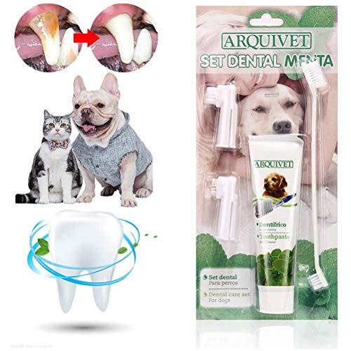 AYily Zahnpasta-Set, Zahnbürste und Zahnpasta, Hundezahnpasta, Hundezahnbürste, Zahnpasta für Hunde...