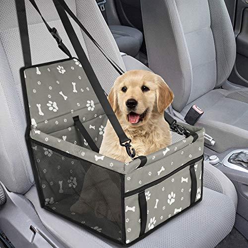 GeeRic Hunde Autositz für Kleine Mittlere Hunde Hochwertiger Auto Hundesitz für kleine bis mittlere...