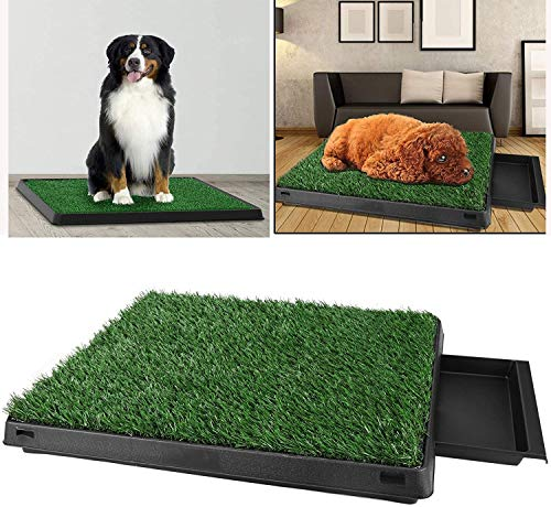 Oppikle Hundetoilette Welpentoilette mit Kunstrasen, Trainingsunterlage Indoor für Hunde Tier WC, 63x...