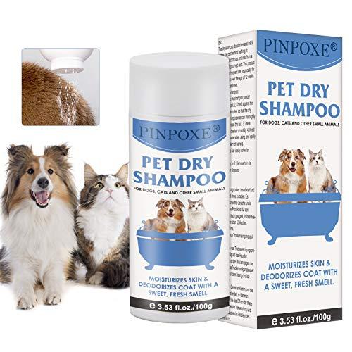 Hundeshampoo, Trocken-Schaum-Shampoo für Hunde und Katzen, Welpen Shampoo, Katzen Shampoo, natürliche...