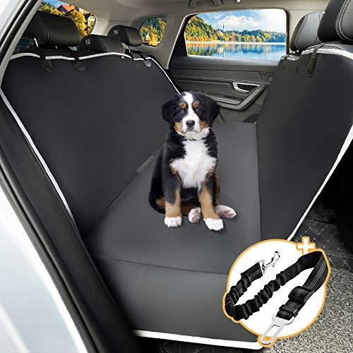 Toozey Hundedecke Auto Rückbank mit Seitenschutz, wasserdichte Kratzfest Autoschondecke Hund Rücksitz...