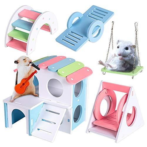 Labeol 5 Stück Hamster Spielzeug Klettern und Spielen Spielzeug für Zwerg Hamster Chinchilla Ratte...