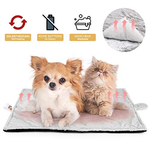 Toozey Selbstheizende Decke für Katzen & Hunde, Größe 68×48 cm / 90cm ×65cm Wärmematte für...
