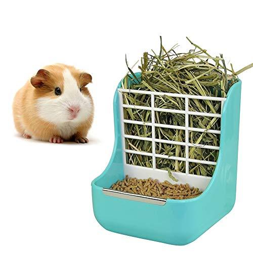 Kaninchen Heuraufe, Meerschweinchen Futterspender Heu Futterautomat für Hasen, Meerschweinchen,...