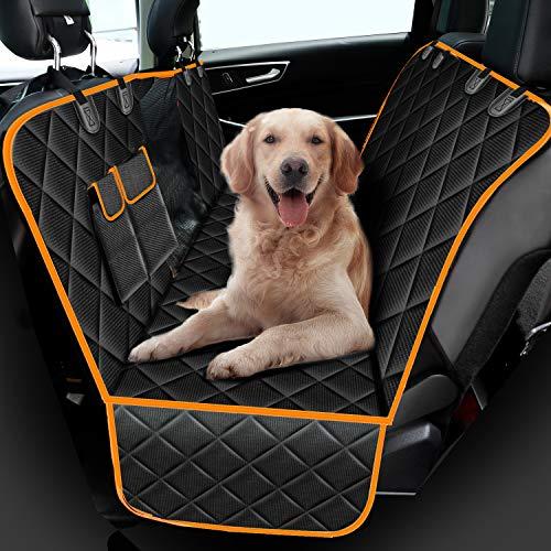 amzdeal Hunde Autoschondecke - Sichtfenster Hundedecke Rückbank, Wasserdicht Autodecke für Haustiere,...