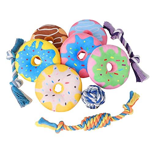 Toozey Welpenspielzeug Donuts - 10 Stück Hundespielzeug Unzerstörbar für Welpen & Kleine Hunde...