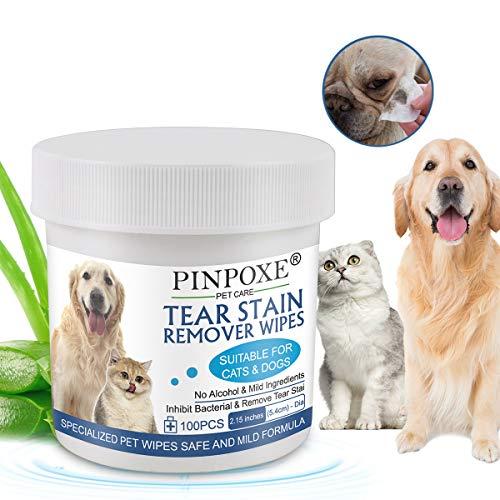 Augen-Reinigungspads, Haustier-Augen-Tücher, Augen-Reinigungspads für Hunde und Katzen, Milde...