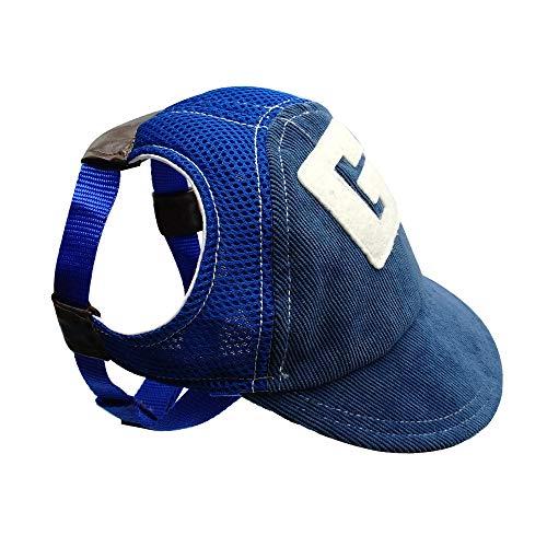 Lifeunion Atmungsaktive Baseballkappe für Hunde und Welpen, mit Ohrlöchern für kleine und mittelgroße...
