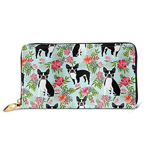 AOOEDM Leather Wallet Hund Bedruckte Lederbrieftasche Frauen Damen Teen Girl Zip Geldbörse Clutch Bag...