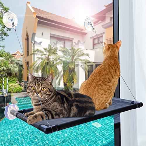 PetIsay Katzen Fensterplatz - Katzenhängematte Fenster - Fensterliege für katzen - Katzenbett - 67 x 40...