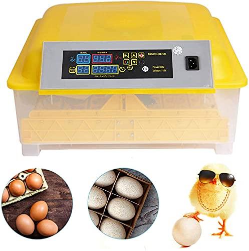 Vollautomatische Inkubator, Brutmaschine für bis zu 48 Hühnereier Brutapparat mit LED und...