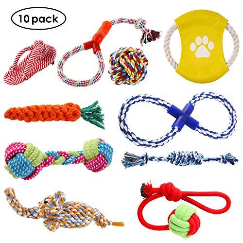 PEDY Hundespielzeug Set,Hundeseile, interaktives Spielzeug,Pet Rope Spielzeug,mit verschiedenen Farbe und...