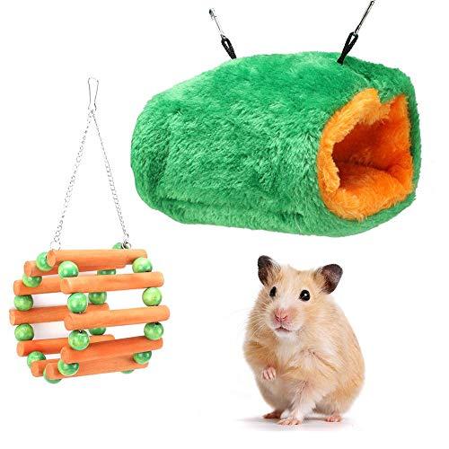Warm halten Ungiftiges kleines Haustier-Baumwollnest, Baumwoll-Hamsterkäfig, Holz für kleines Haustier...