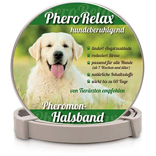 PheroRelax beruhigendes Halsband für Hunde I Natürliches Beruhigungsmittel für Hunde mit Pheromonen...
