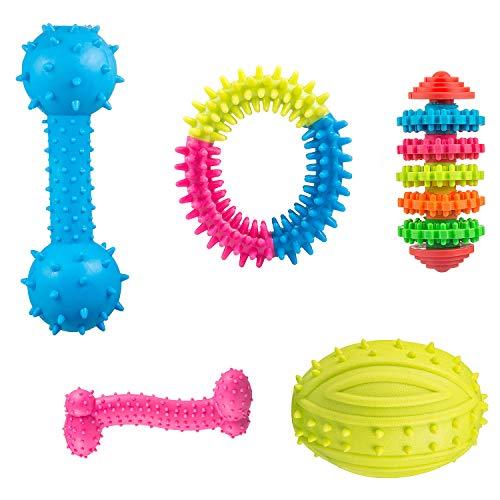 Comius Spielzeug für Welpen, 4 Pcs Pet Molar Spielzeug Einstellen aus Naturkautschuk Zahnreinigung mit...