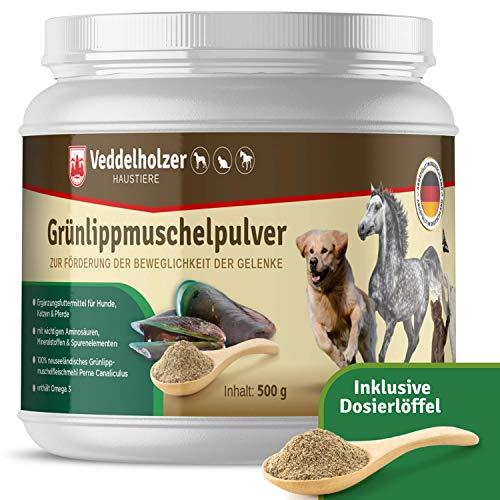 Veddelholzer Natürliches Grünlippmuschelpulver Hund - 500g Grünlippmuschel für Hunde zur...