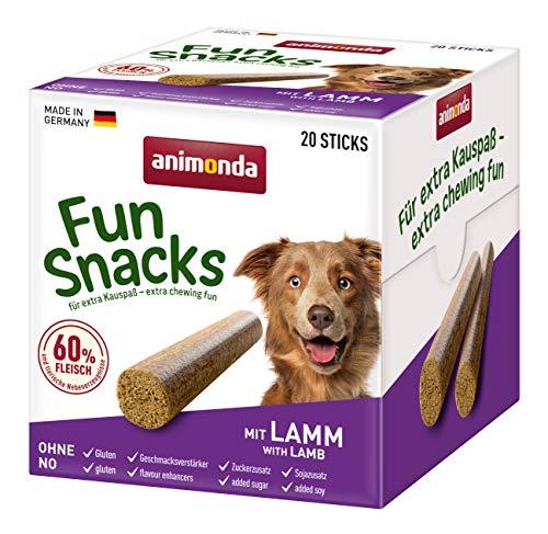 animonda Fun Snacks Kaustangen, Dog Stick für ausgewachsene Hunde, Geschmacksrichtung Lamm, 500 g