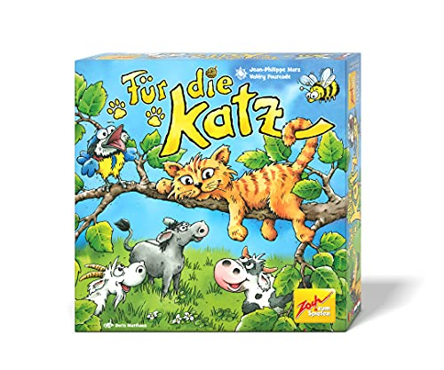 Zoch 601105158 Für die Katz – das lustige Teamwork-Geschicklichkeitsspiel mit verbundenen Augen, 2 bis...