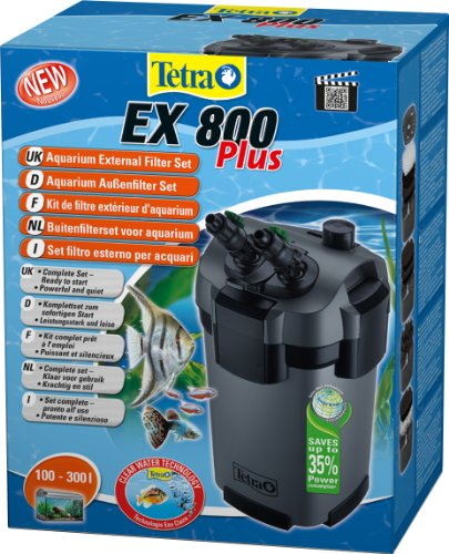 Tetra Aquarien Außenfilter EX 800 Plus (leistungstarker Filter für Aquarien von 100-300 L, Komplettset...