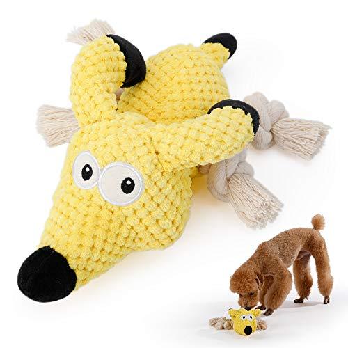 PETTOM Plüschspielzeug für Hunde, Hundespielzeug Quitschend Plüsch, Quietschspielzeug für Große...