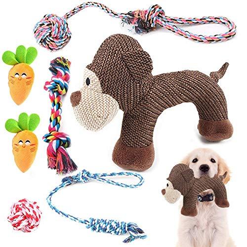 Welpenspielzeug ab 8 Wochen Kleiner Hund, Quietschspielzeug für kleine Hunde, Geschenke für Welpen, 7...
